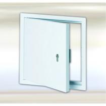 System B4 –klapa rewizyjna z blachy stalowej, biała z zamkiem cylindrycznym